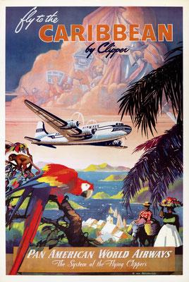 Pan American World Airways - Caribbean by Clipper - Mark von Arenburg - 1940s