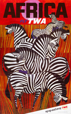 TWA - Africa - David Klein - 1960s - Second edition