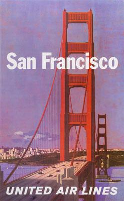 Stan Galli - UAL - San Francisco - Vintage Modernism Poster