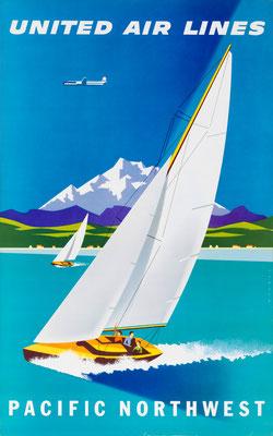 Joseph Binder - UAL - Pacific Northwest - Vintage Modernism Poster