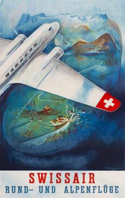 Swissair - Rund- und Alpenflüge - Eugène Häfelfinger - 1937