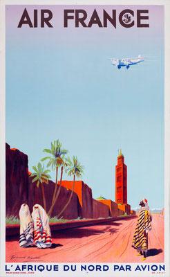 Air France - L'Afrique du Nord par Avion - Maurice Guiraud-Rivière - 1934