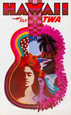 TWA - Hawaii - David Klein - 1960s