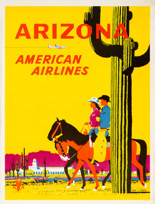 American Airlines - Arizona - Fred Ludekens - 1950s