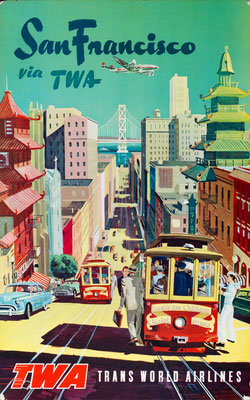 TWA - San Francisco via TWA - 1950s