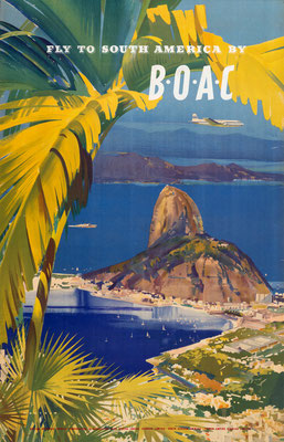 BOAC - Fly to South America - Frank Wootton - 1950
