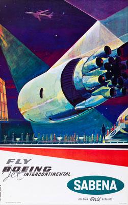 SABENA - Fly Boeing Jet Intercontinental - G. vanden Eynde - 1960