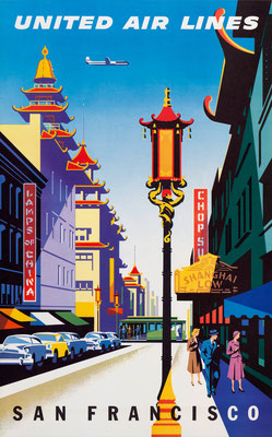 United Air Lines - San Francisco - Joseph Binder - 1957