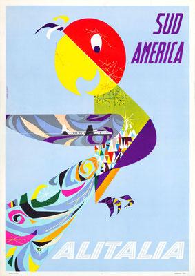 Alitalia - Sud America - Gregori - 1950s