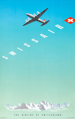 Swissair - The Airline of Switzerland - Hermann Eidenbenz -1948
