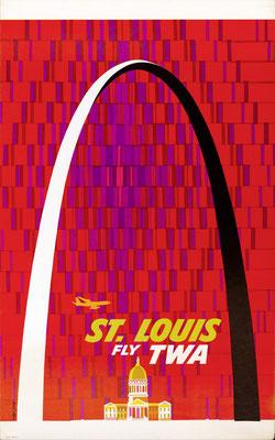 David Klein - TWA - St. Louis - Vintage Modernism Poster