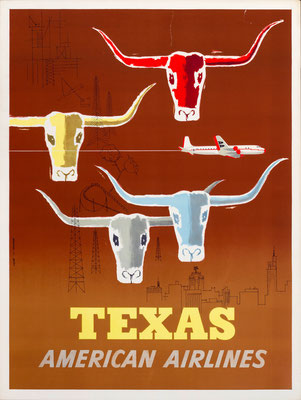 American Airlines - Texas - Glanzman-Parker - 1953