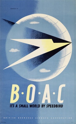 BOAC - It's a small world by Speedbird- Tom Eckersley - 1947