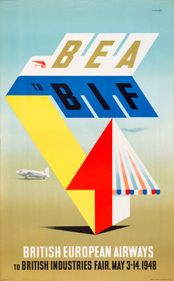 BEA - to BIF - Abram Games - 1947
