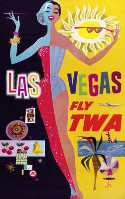 David Klein - TWA - Las Vegas - Vintage Modernism Poster