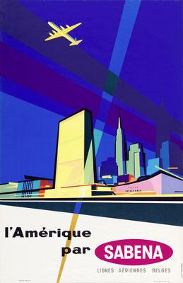 SABENA - l' Amerique - G. vanden Eynde - 1957