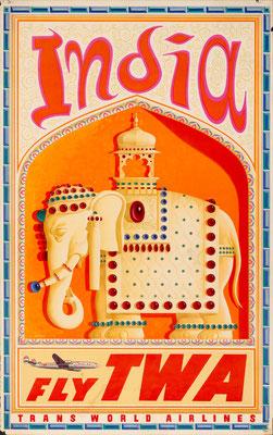 TWA - India - David Klein - 1955