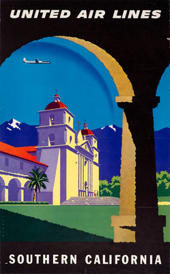 United Air Lines - Southern California - Joseph Binder - 1957