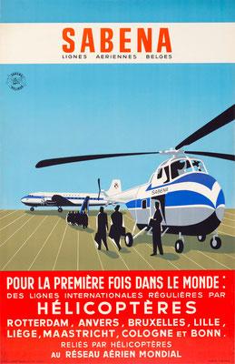 SABENA - Hélicoptères - 1950s