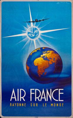 Air France - Rayonne sur le monde - Edmond Maurus - 1946