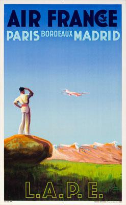Air France - Paris Bordeaux Madrid - Albert Solon - 1936