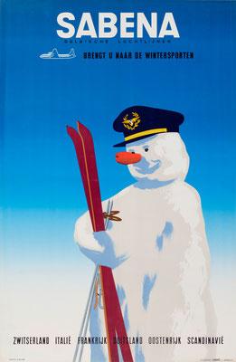 SABENA - Brengt u naar de Wintersporten - 1950s