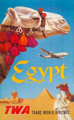TWA - Egypt - David Klein - 1950s