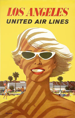 Original Vintage Poster - UAL - Los Angeles - Stan Galli - Alternative text, 2nd Edition