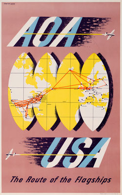 AOA - USA The Route of the Flagships - Lewitt-Him - 1940s