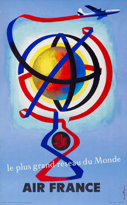 Air France - le plus grand réseau du Monde - Jacques Nathan-Garamond - 1956