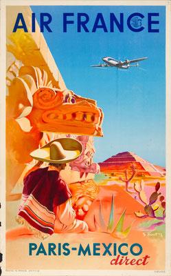 Air France - Paris-Mexico direct - S. Prout - 1952