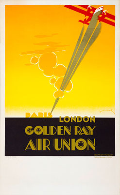 Lithograph in colors - Air Union - Maurus