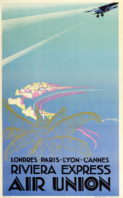Edmond Maurus - Air Union - Riviera Express - Vintage Art Deco Poster