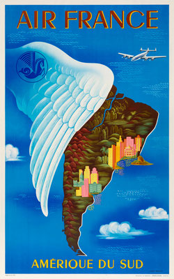 Air France - Amerique du Sud - Lucien Boucher - 1950
