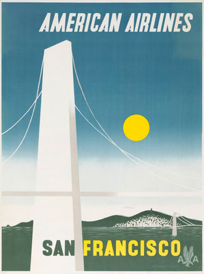 American Airlines - San Francisco - Edward McKnight Kauffer - 1948