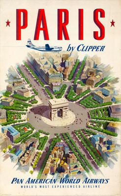 Pan American World Airways - Paris by Clipper - 1951
