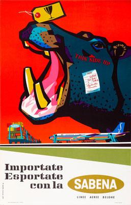 SABENA - Importate Esportate con la - G. vanden Eynde - 1960s