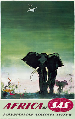 Otto Nielsen - SAS - Africa - Original Vintage Poster (Old School Illustration)