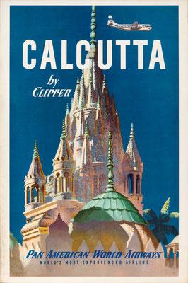 Pan American World Airways - Calcutta by Clipper - 1951