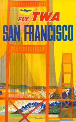 TWA - San Francisco - David Klein - 1960