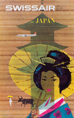 Swissair - to Japan - Donald Brun -1958
