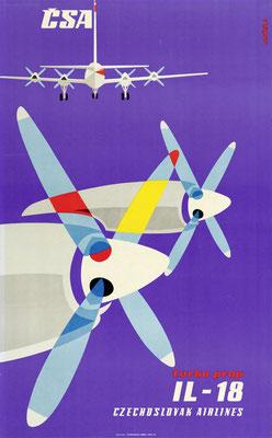 CSA - turbo prop IL-18 - Hanzlik - 1960