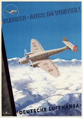 Deutsche Lufthansa - Fliegen – Auch im Winter! - Marggraff - 1937 - SOLD