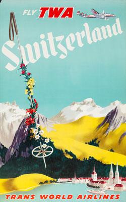 TWA - Switzerland - 1950s
