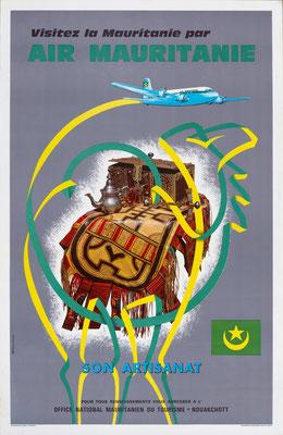 Air Mauritanie - Visitez la Mauritanie par - M. Aventurier - 1960s