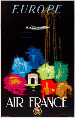 Air France - Europe - Edmond Maurus - 1948