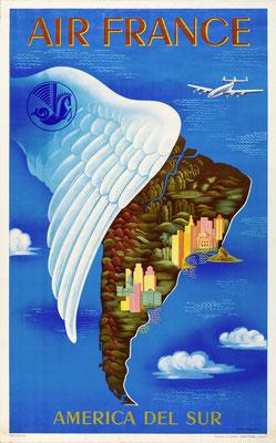 Air France - America del Sur - Lucien Boucher - 1950