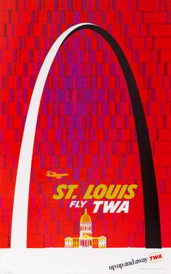 TWA - St. Louis - David Klein - 1960s - Second edition