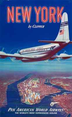 Pan American World Airways - New York by Clipper - 1950s