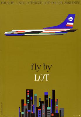 LOT - Polskie Linie Lotnicze · Polish Airlines - Hilscher - 1962